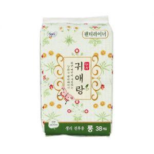 韩国LG贵爱娘中草本配方卫生巾护垫175mm加长38片