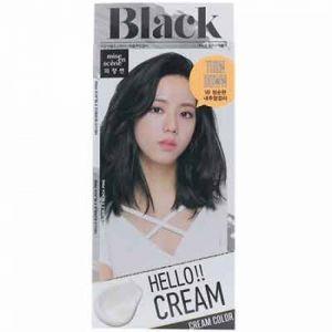 韩国MISE EN SCENE爱茉莉植物染发剂系列 1B神秘浓黑 膏状
