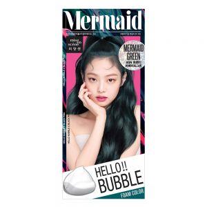 韩国Amore爱茉莉泡沫染发剂hello泡泡植物染发膏 4GN 人鱼绿色