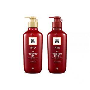 韩国Ryo红吕护烫染修护洗发水护发素套组 550ml*2